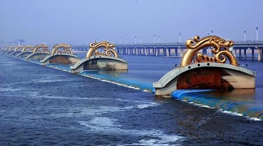 Taoyuan rubber dam project, Linyi City, Shandong.