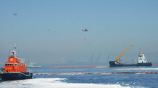 """June 2007, took part in the ''Bohai Delta Oil Spill Drill"""" organized by the Ministry of Communications."""