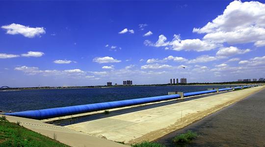 河北石家庄滹沱河橡胶坝