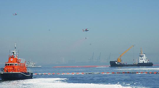 2007年6月5日,参加渤海溢油应急演习
