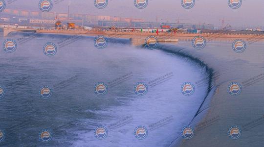 吉林省白山市浑江弧形橡胶坝