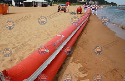 岸滩围油栏