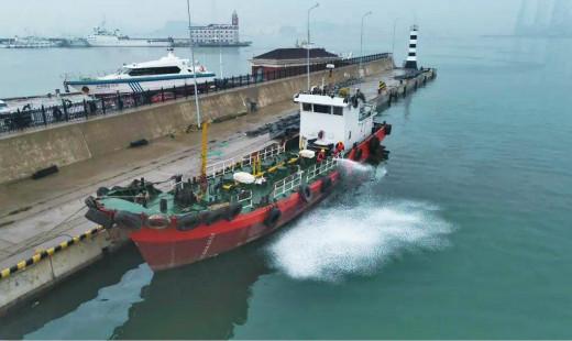 大连海事局开展2020年船舶溢油应急设备实操演练