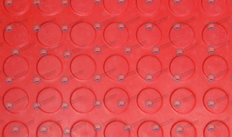橡胶板-红色圆点